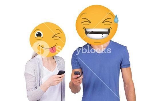 Laughing with friends. emoji face