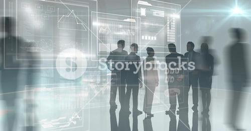Digital composite image of business people