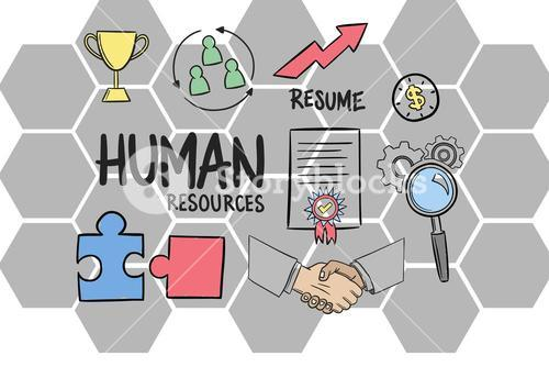 Digital composite image of Human resources sign with icons