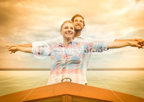 Couple in a boat.
