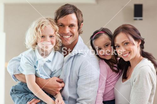 Lovely family posing