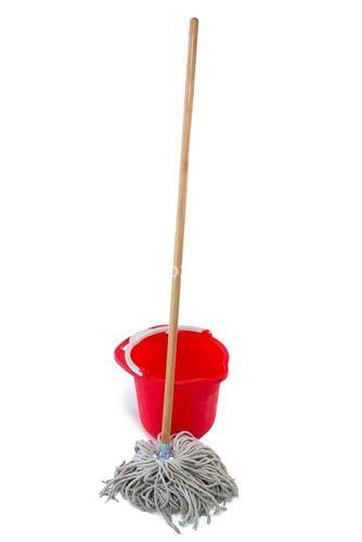 Mop with red bucket