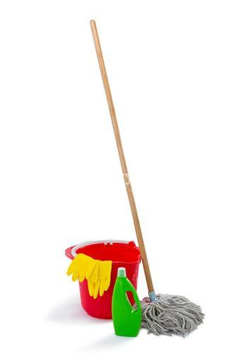 Cleaning products and mop with bucket