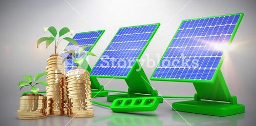 Digital composite of 3d solar panel
