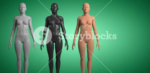 Composite image of composite image of gray 3d woman