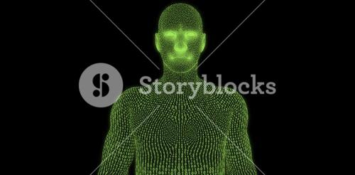 Composite image of digital image of three dimensional male