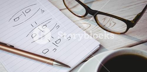 Composite image of divisions over black background