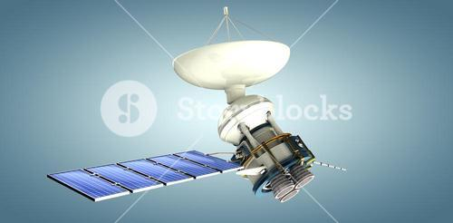 Composite image of 3d image of solar power satellite