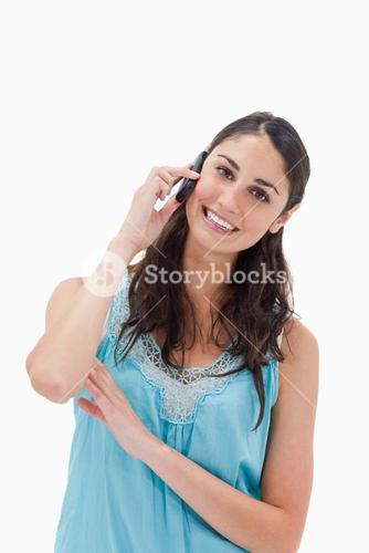 Portrait of a woman making a phone call