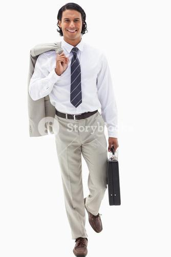 Portrait of a businessman going to work