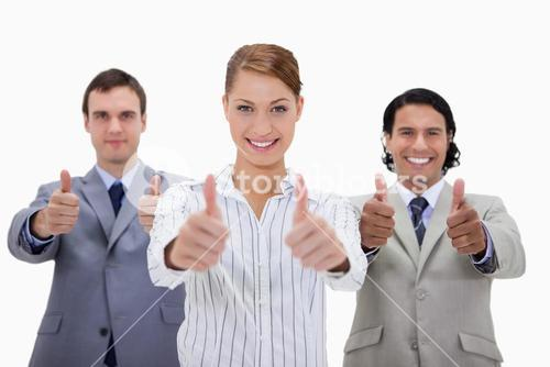 Business team approving