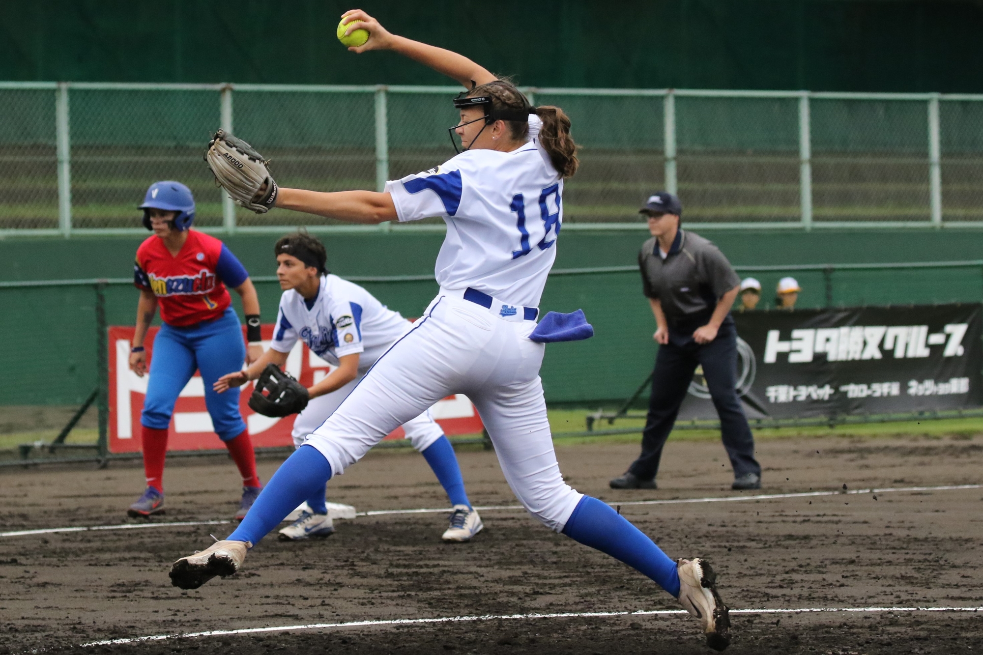 Greta Checchetti pitched a gem for Italy against Venezuela