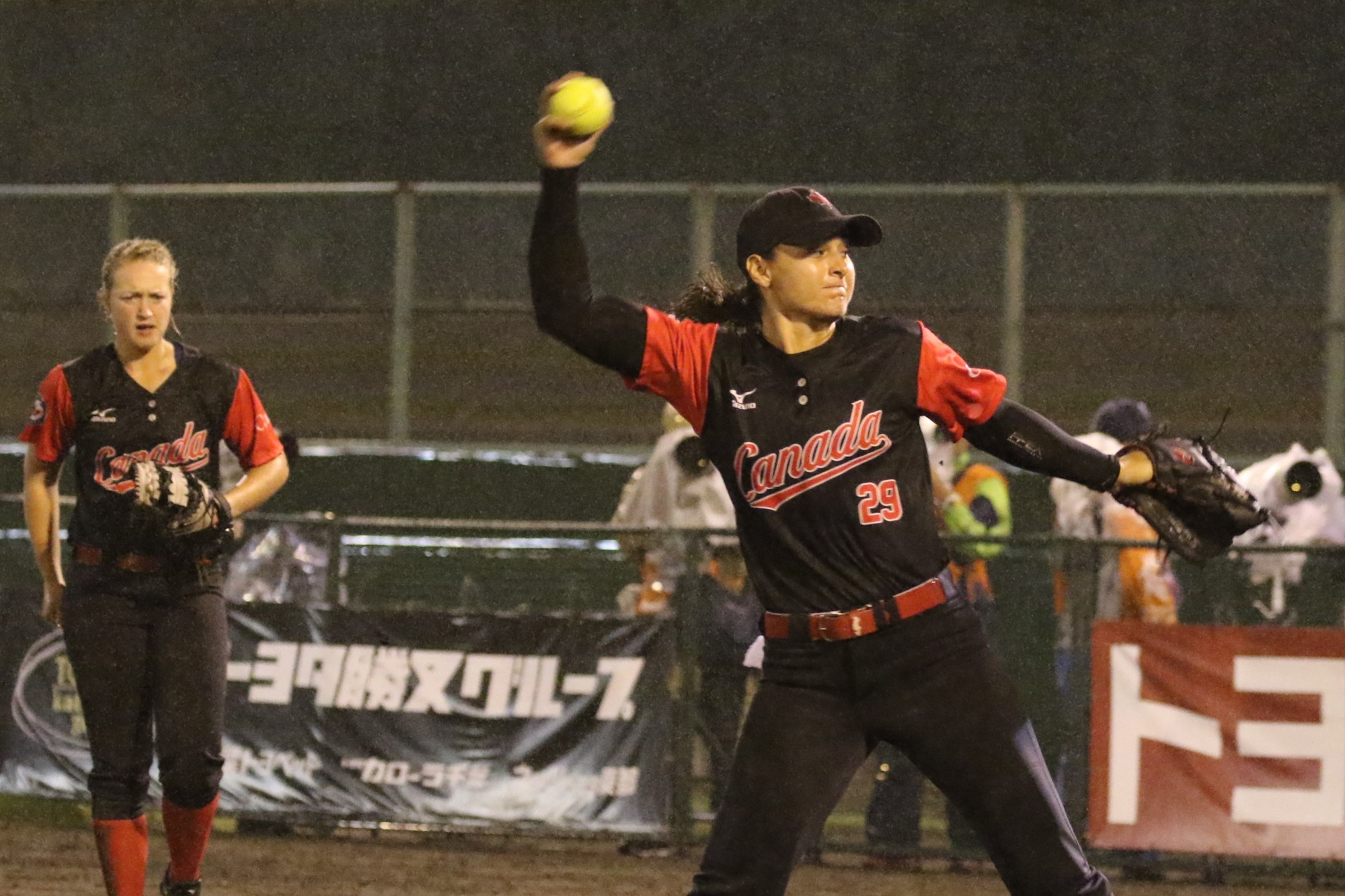 Eujenna Caira started the game for Canada against Japan