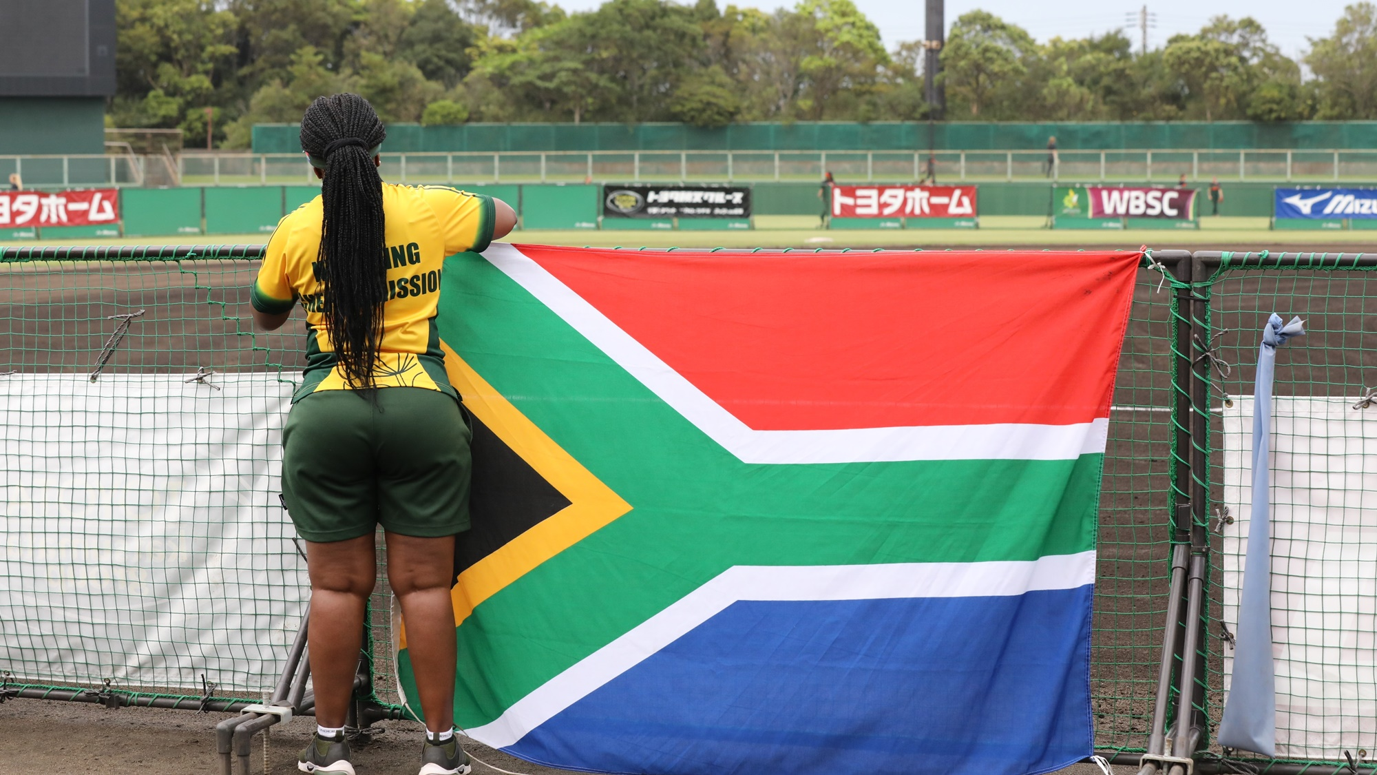 South Africa finally scored their first run in the tournament
