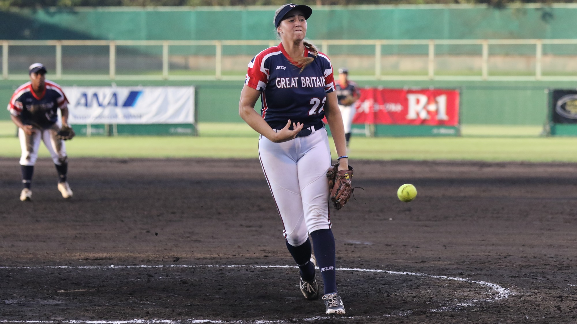 Georgina Corrick pitched in relief to secure Great Britain a win over Venezuela and sixth place in group B