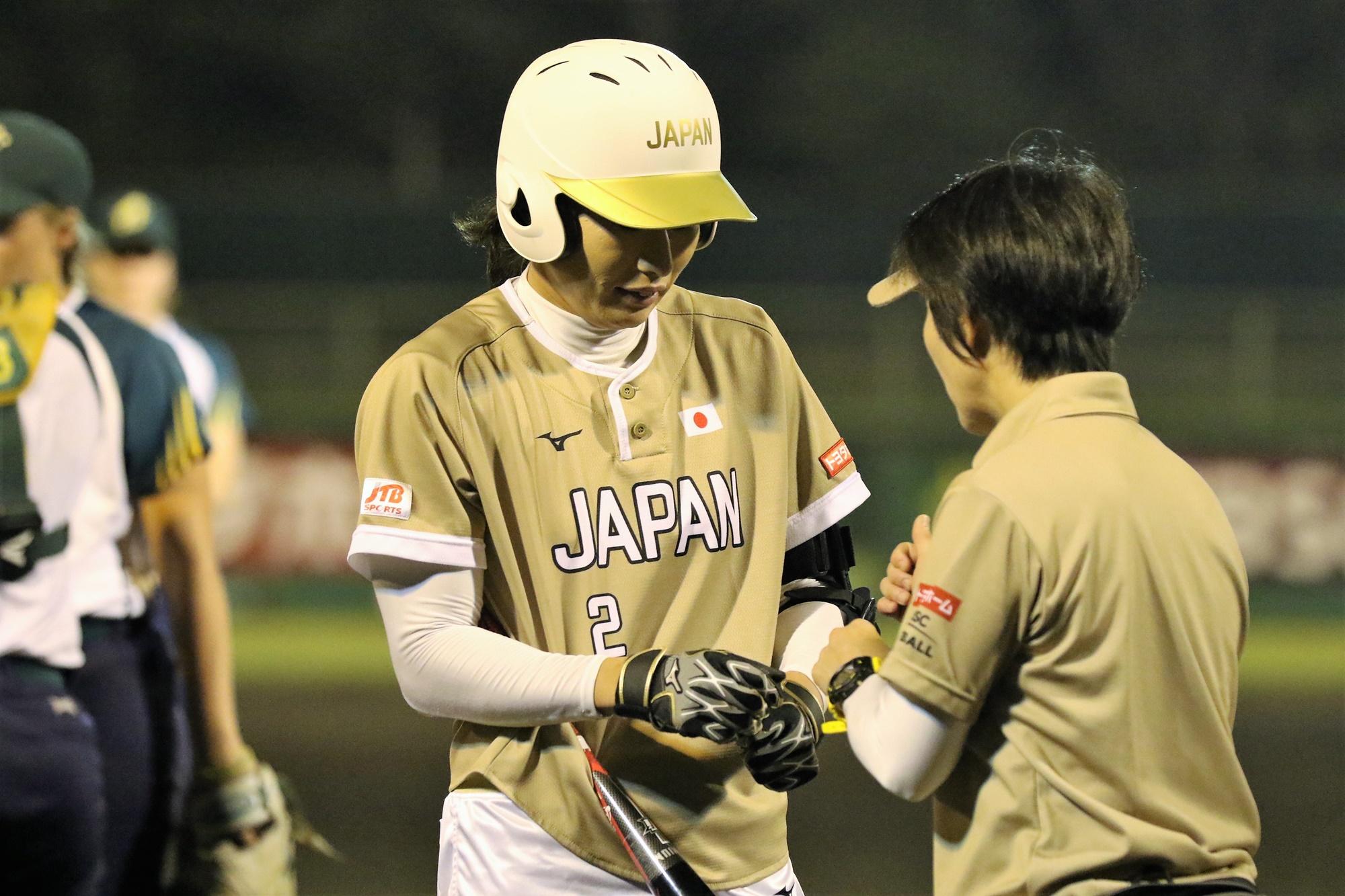 Saki Yamazaki, Japan's catcher