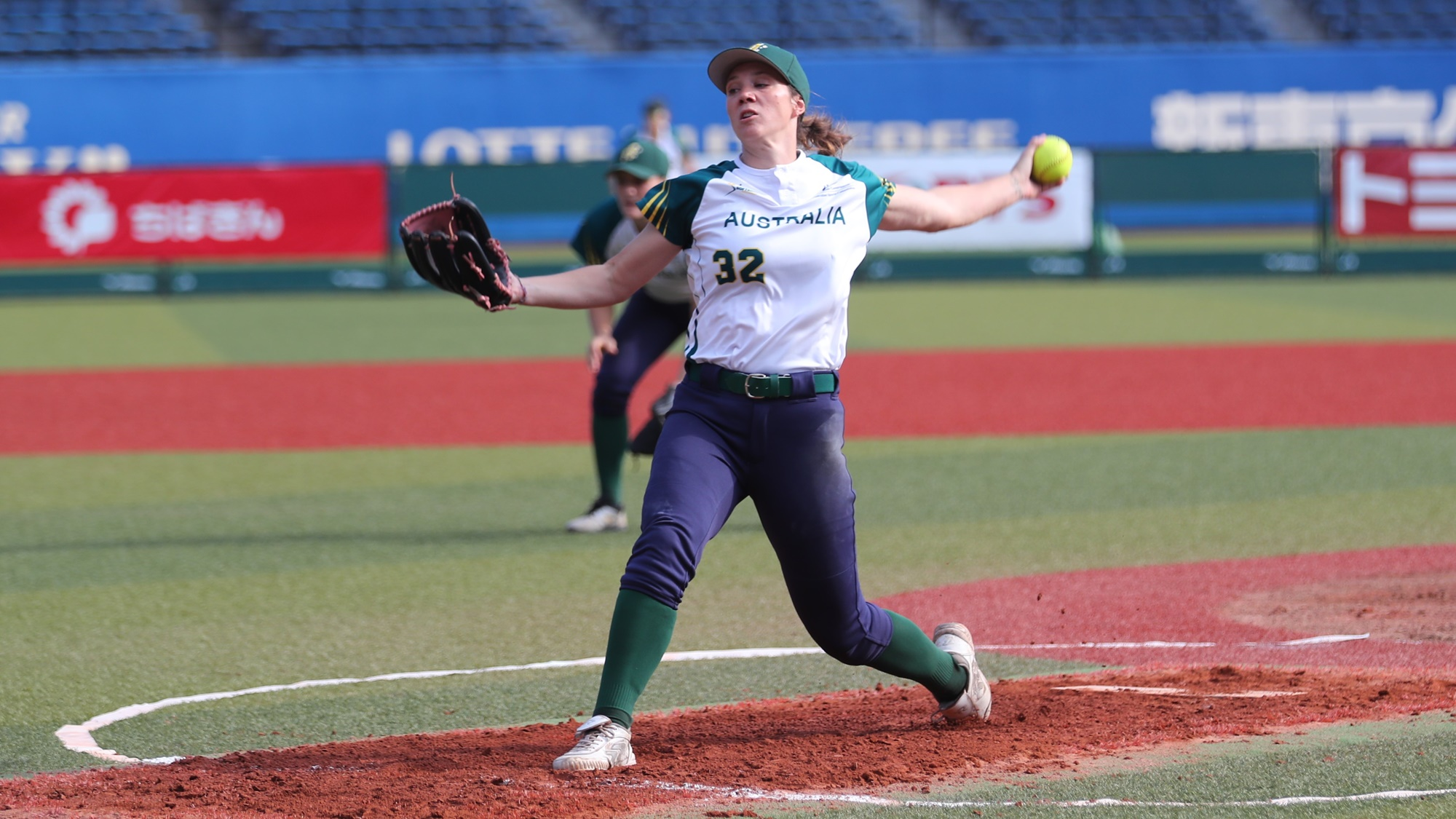 Kaia Parnaby pitched well for Australia, didn't get full support from her defense