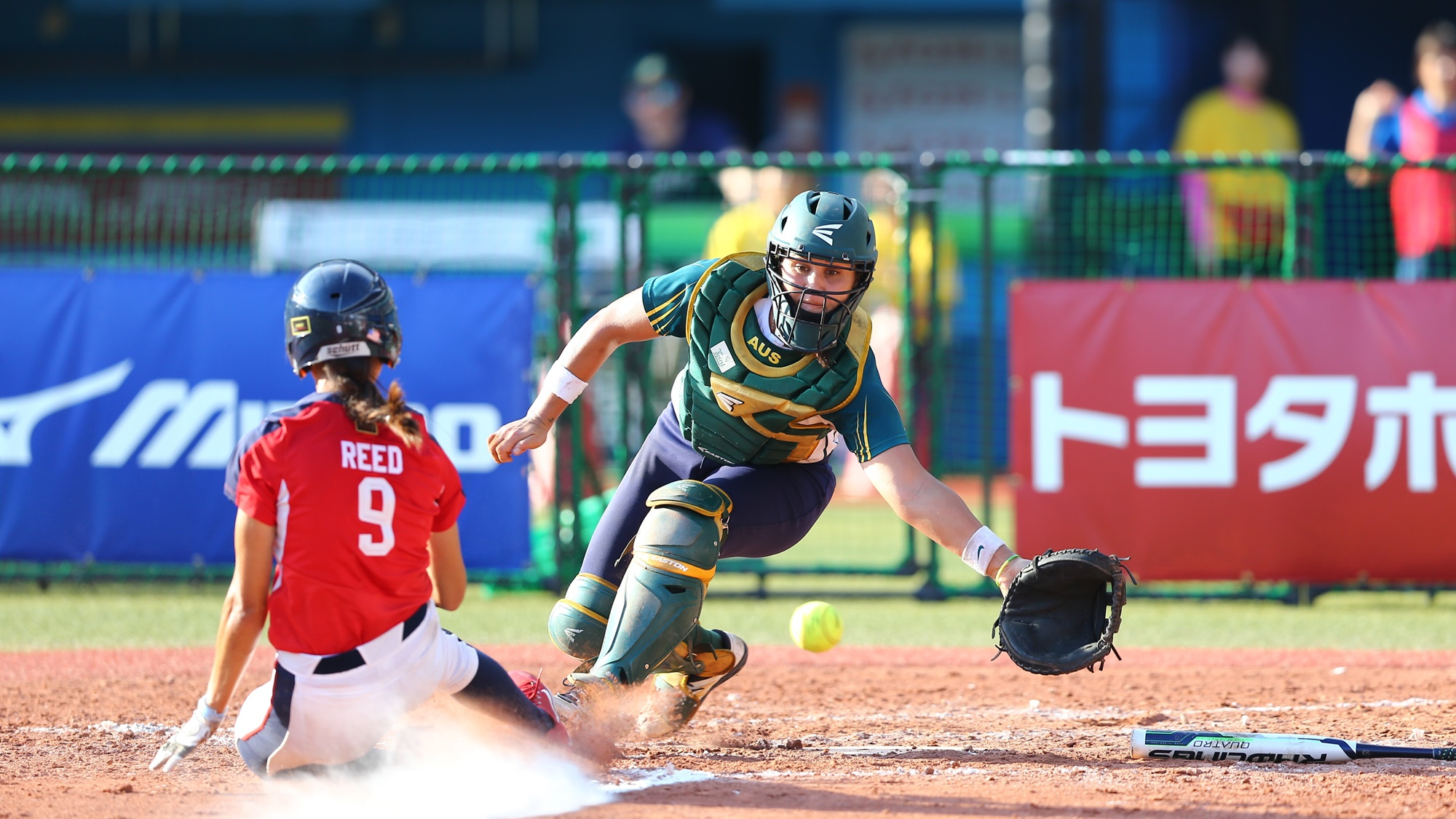 Janette Reed scored the go ahead run for the defending champions