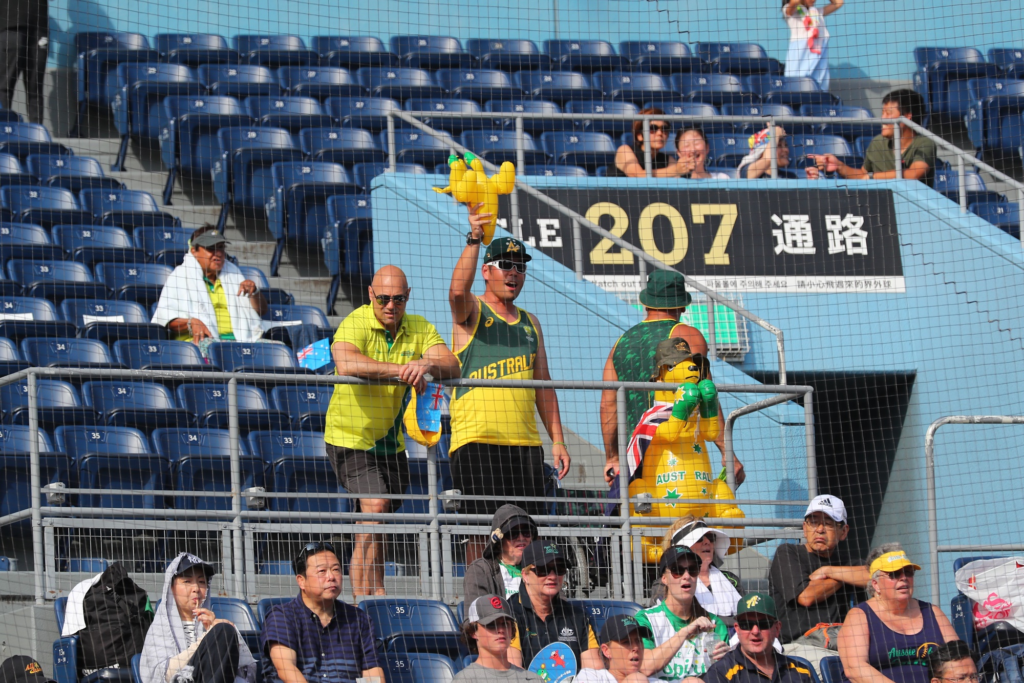 Australia fans at Zozo Marine Stadium in Chiba