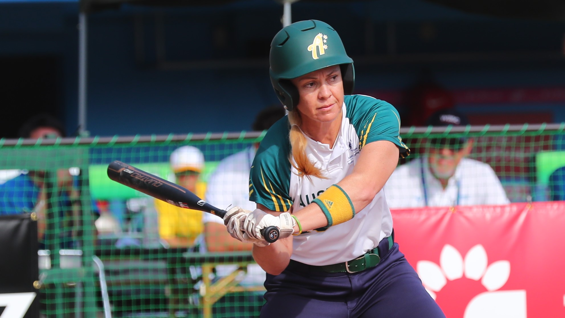 The first hit for Australia was a home run by Stacey Porter that tied the game in the fourth