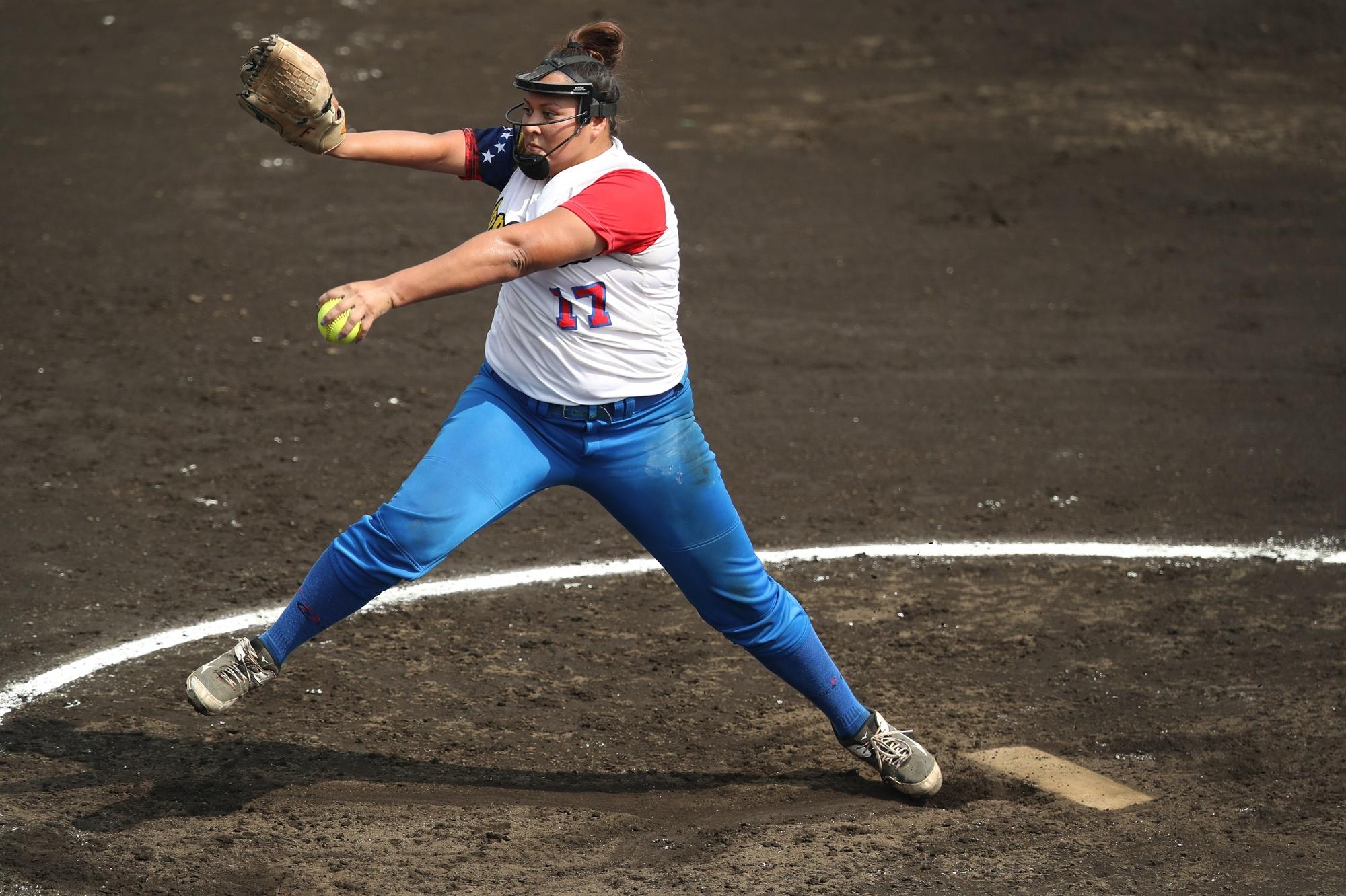 Desiree Ibarra started the game for Venezuela