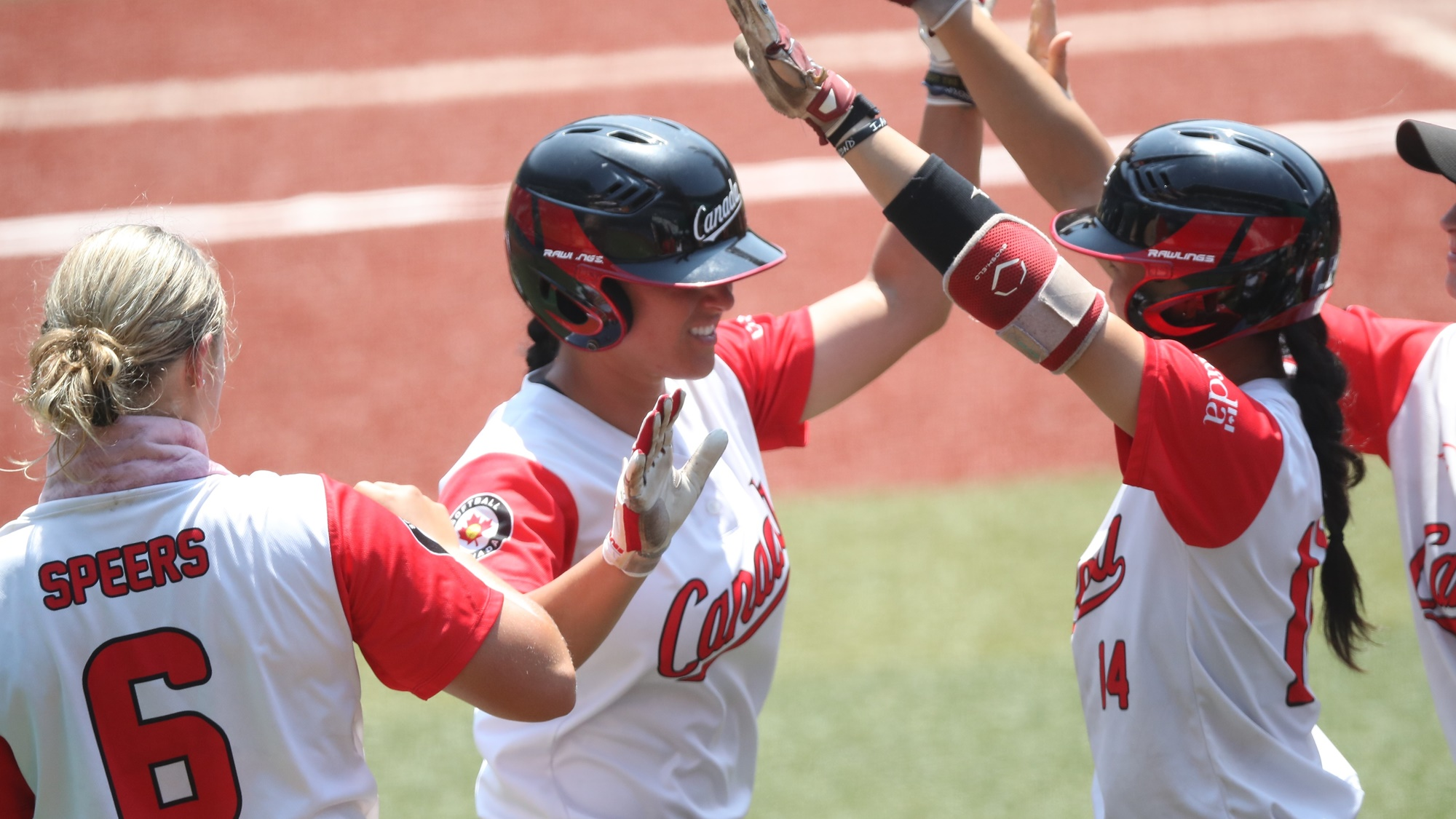Salling welcomed home after her home run
