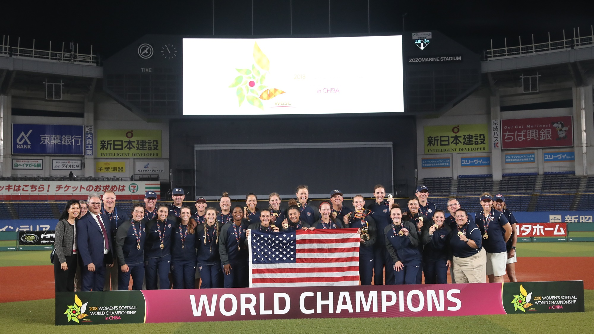 USA on the  podium