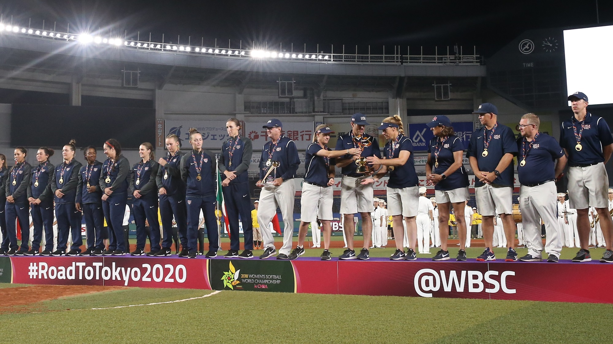 USA awarded the trophy of World Champions
