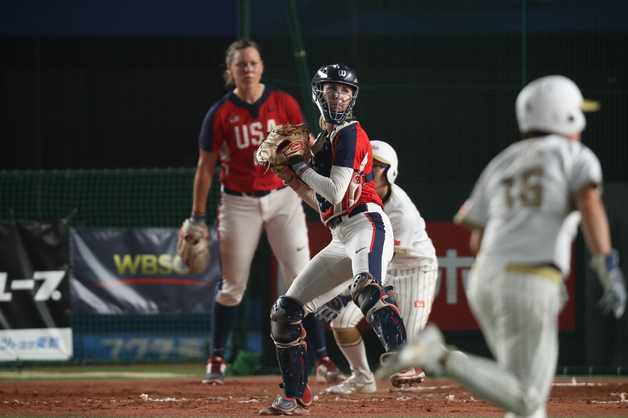 Aubree Munro, the USA catcher