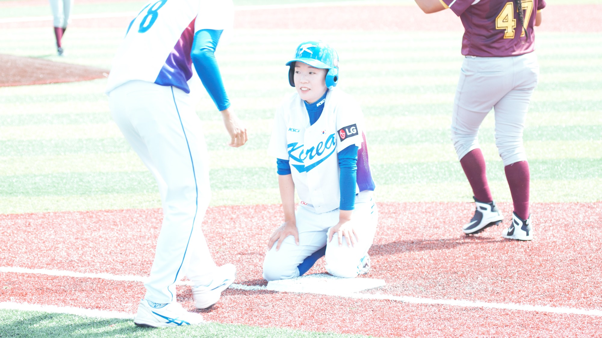 Korea loaded the bases in the seventh but the game ended on a double play