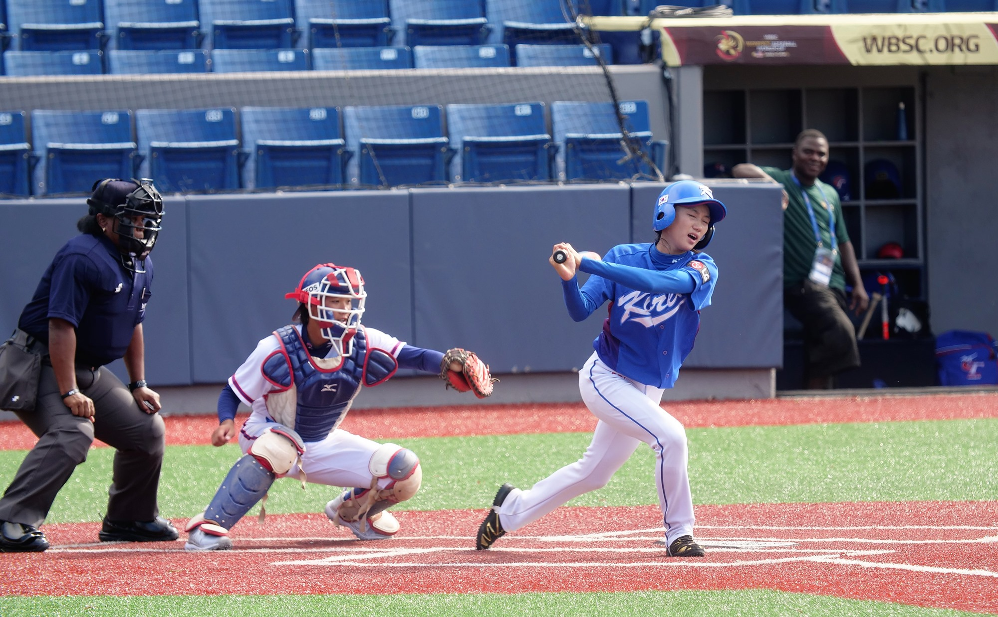 The game between Chinese Taipei and Korea was decided in the first couple of innings
