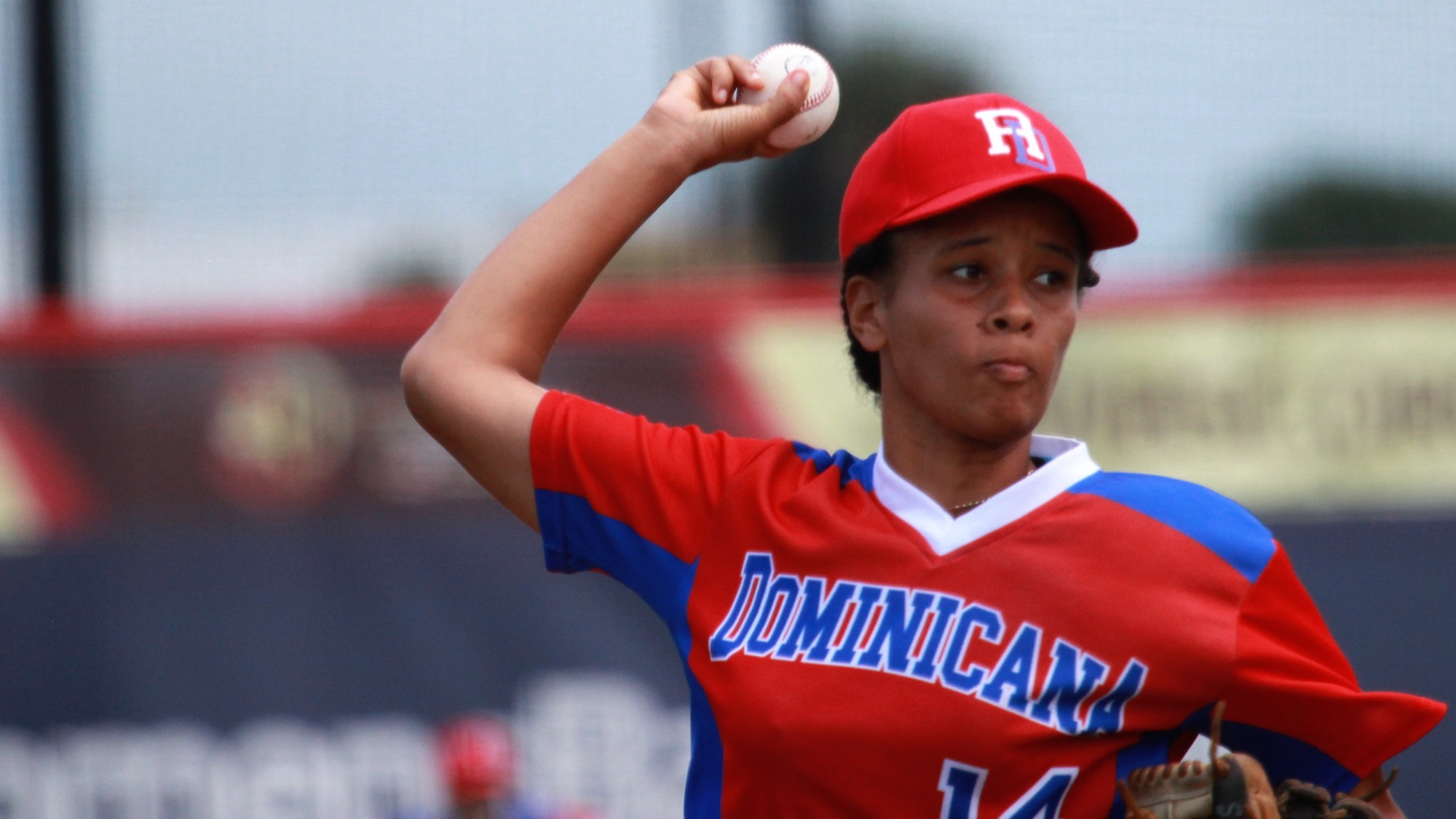 Carla Minier went the distance for Dominican Republic against Hong Kong