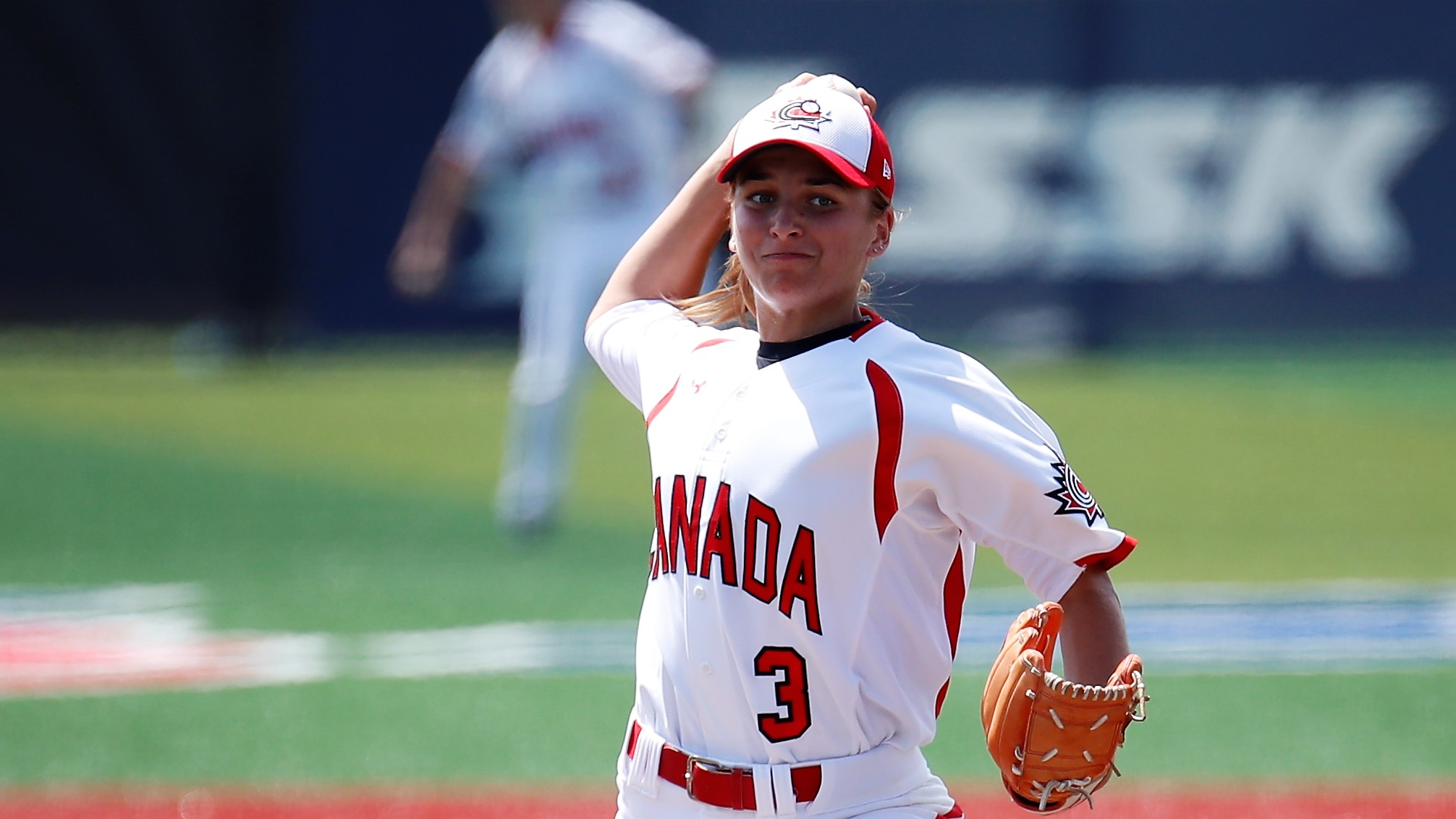 Emma Carr went the distance for Canada against the Dominican Republic