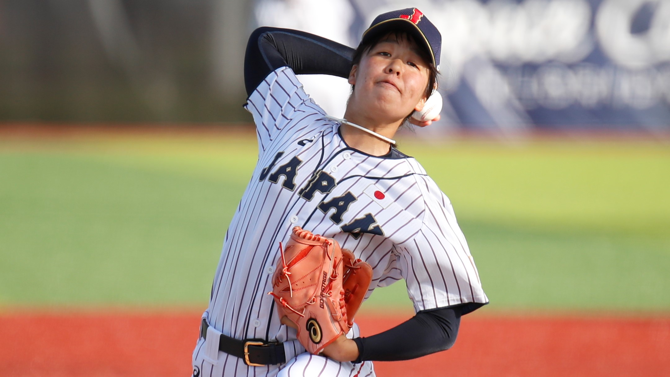 Miyu Shimizu pitched five innings to record the win for Japan