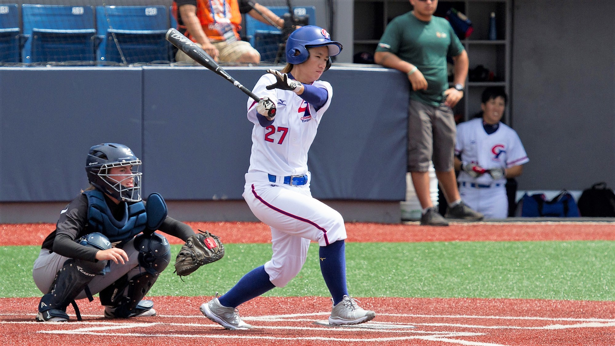 Tsai Ya Ling at bat