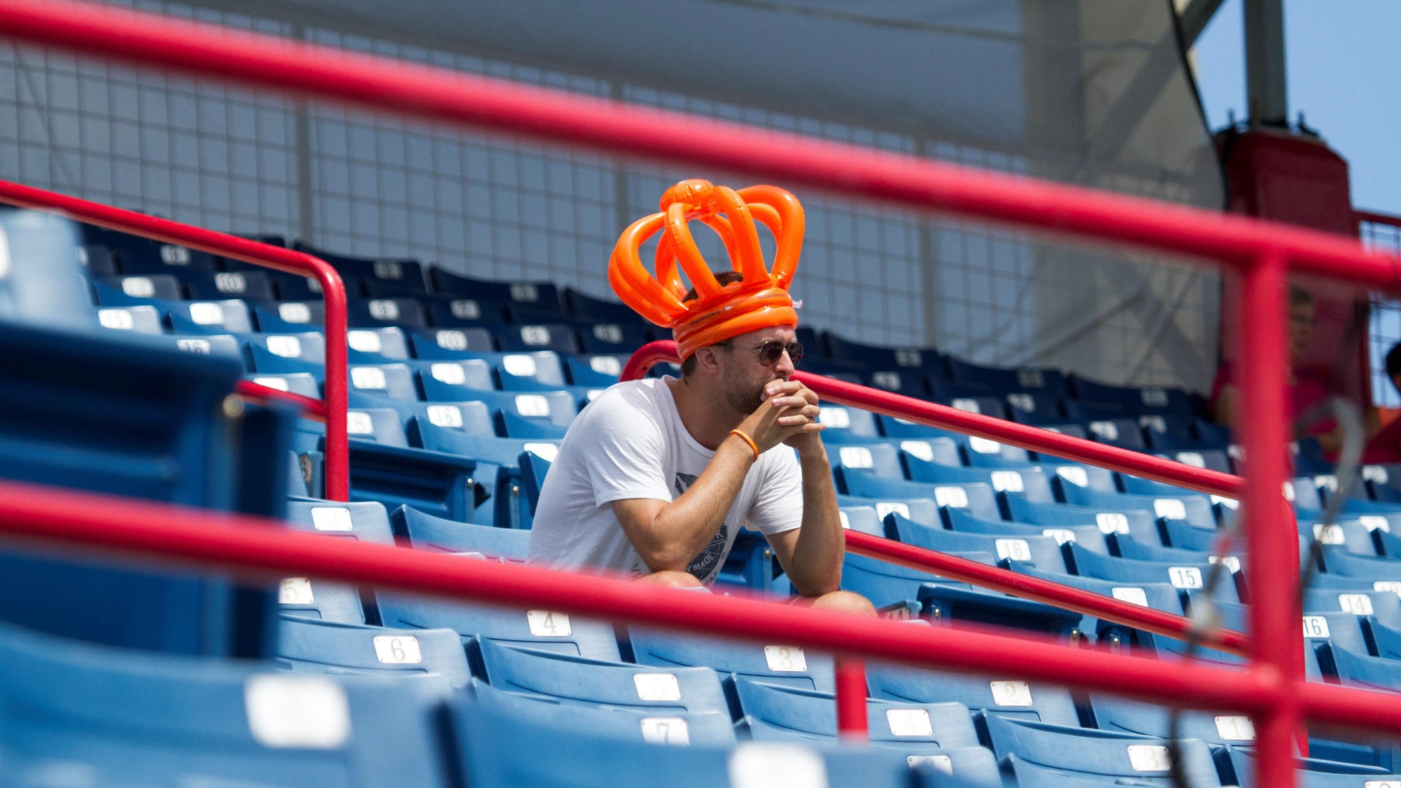 A lone Dutch fan on the standings
