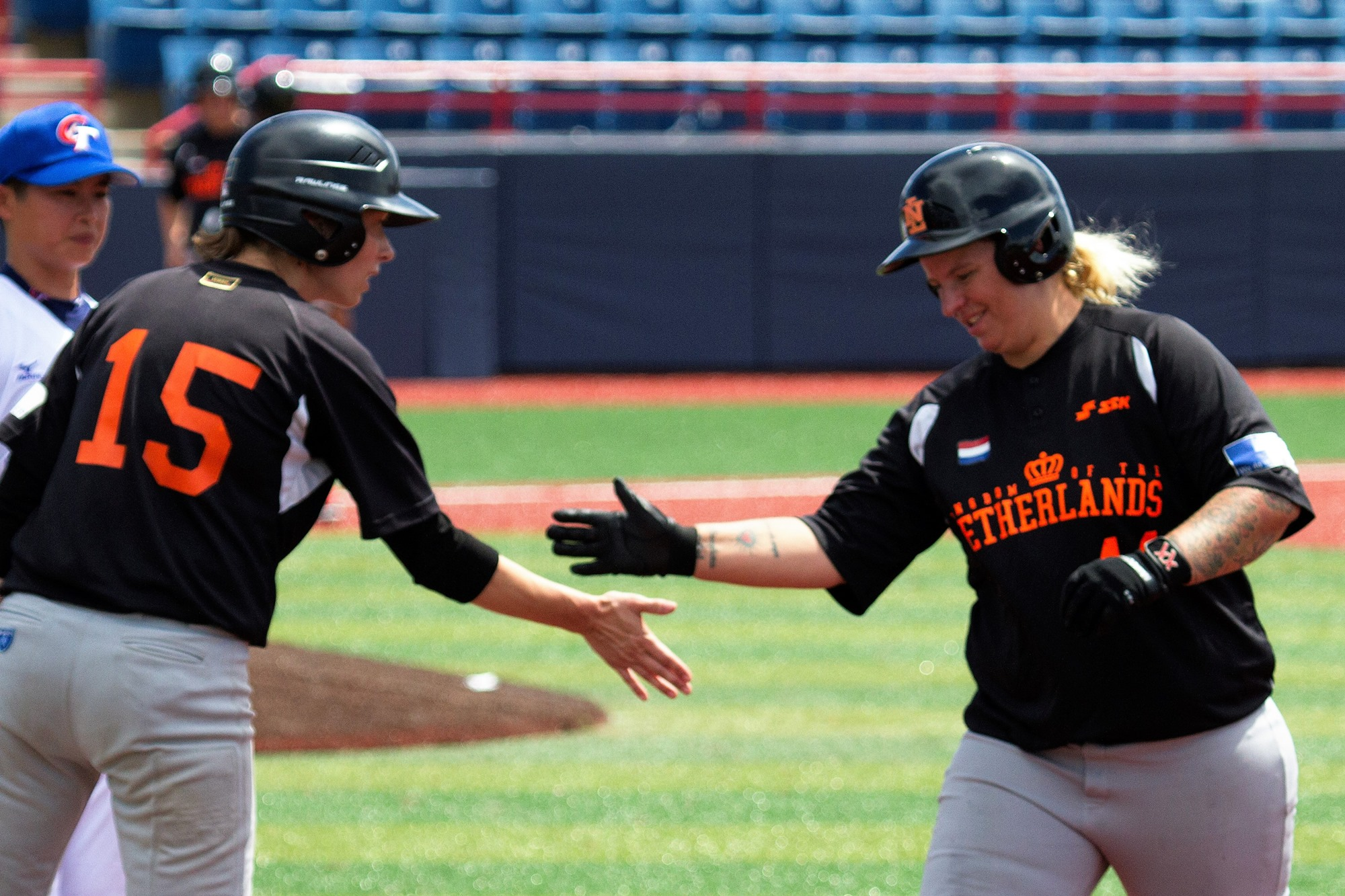 A brave Dutch side got on base against group A leading Chinese Taipei