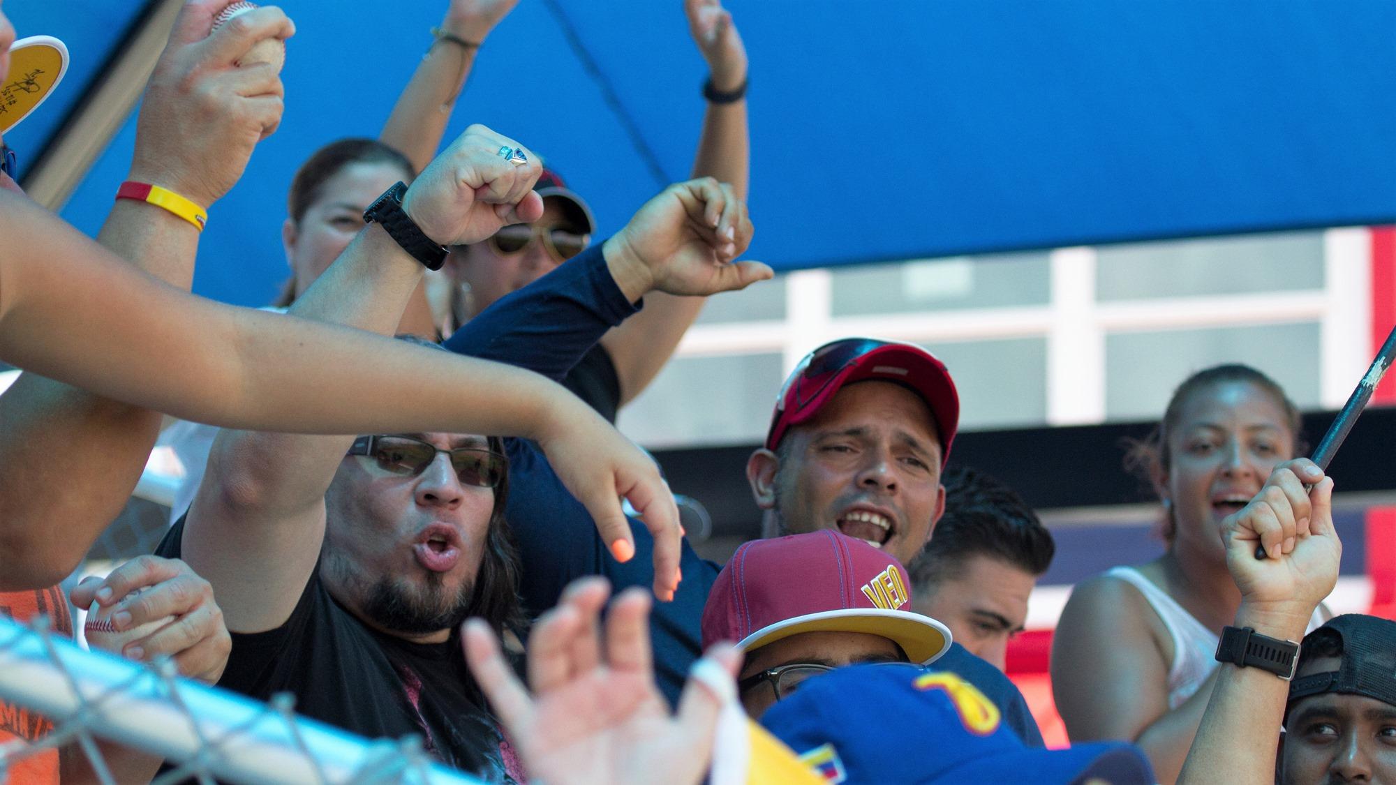 Raucous Venezuela's fans