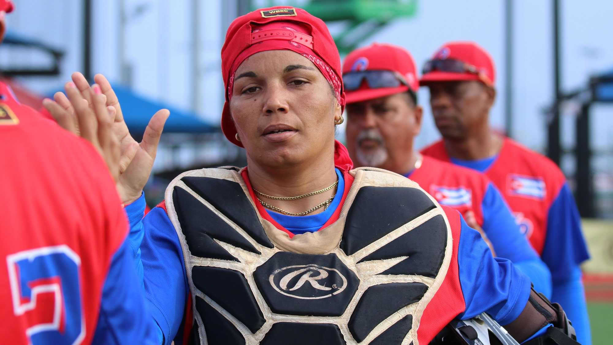 Yordanka Rodriguez is the starting catcher for Cuba
