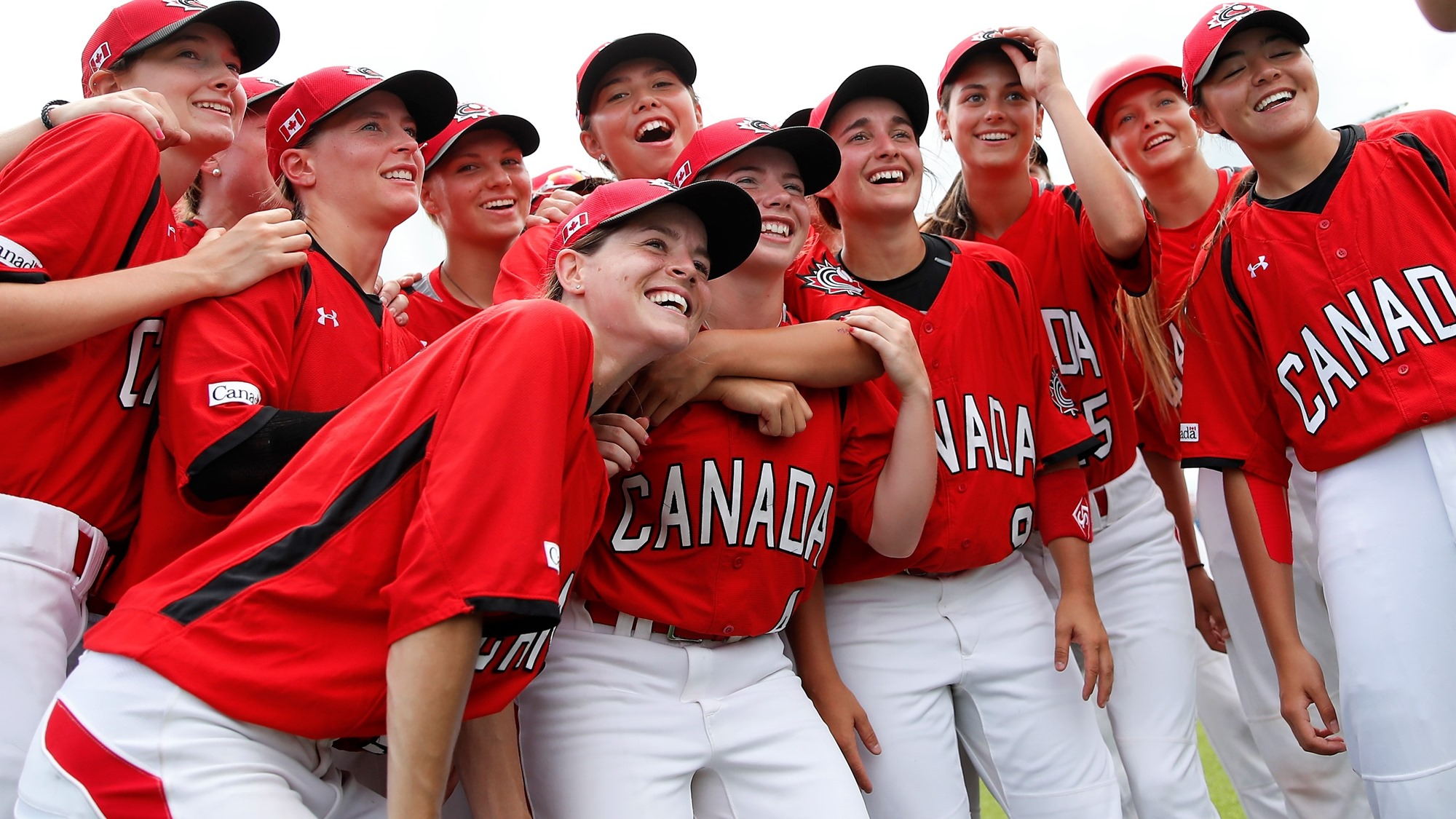 Canada posing for a selfie after the win against Venezuela