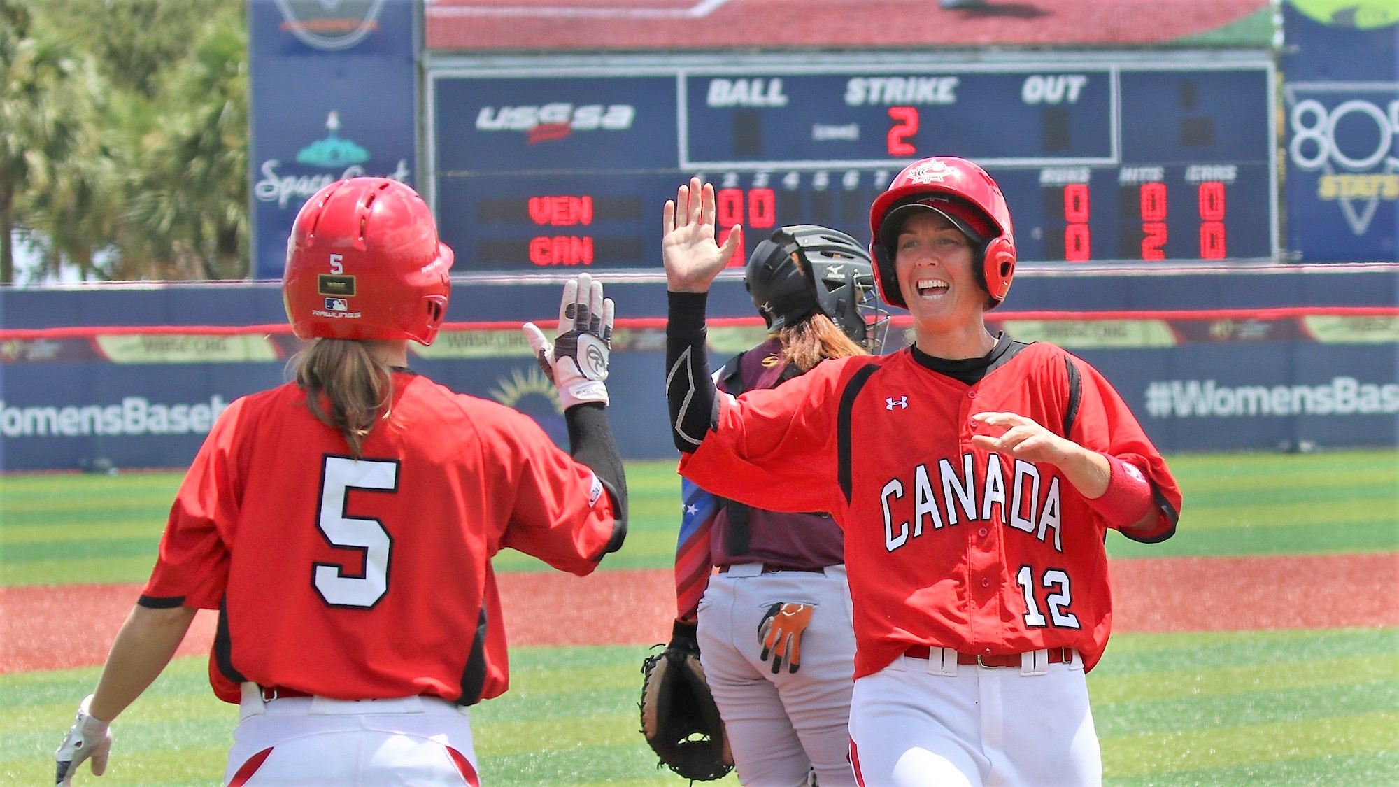 Canada celebration after taking the lead