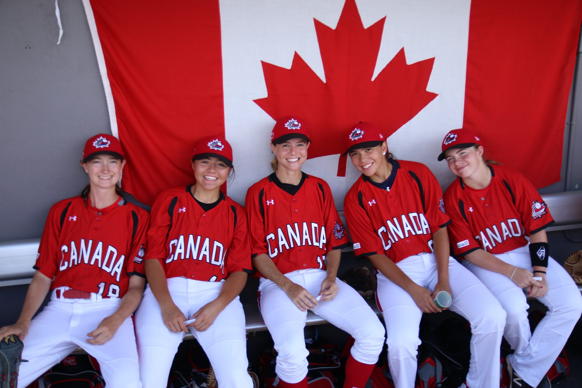 Canada's dugout before the game