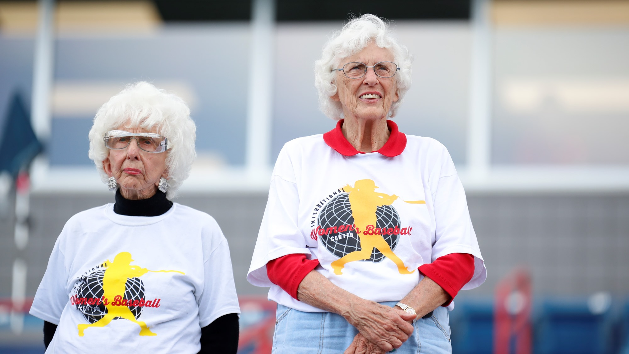 Maybelle Blair and Shirley Burkovich where in attendance. They played in the All-American Girls Professional Baseball League in the late 1940s-early 50s