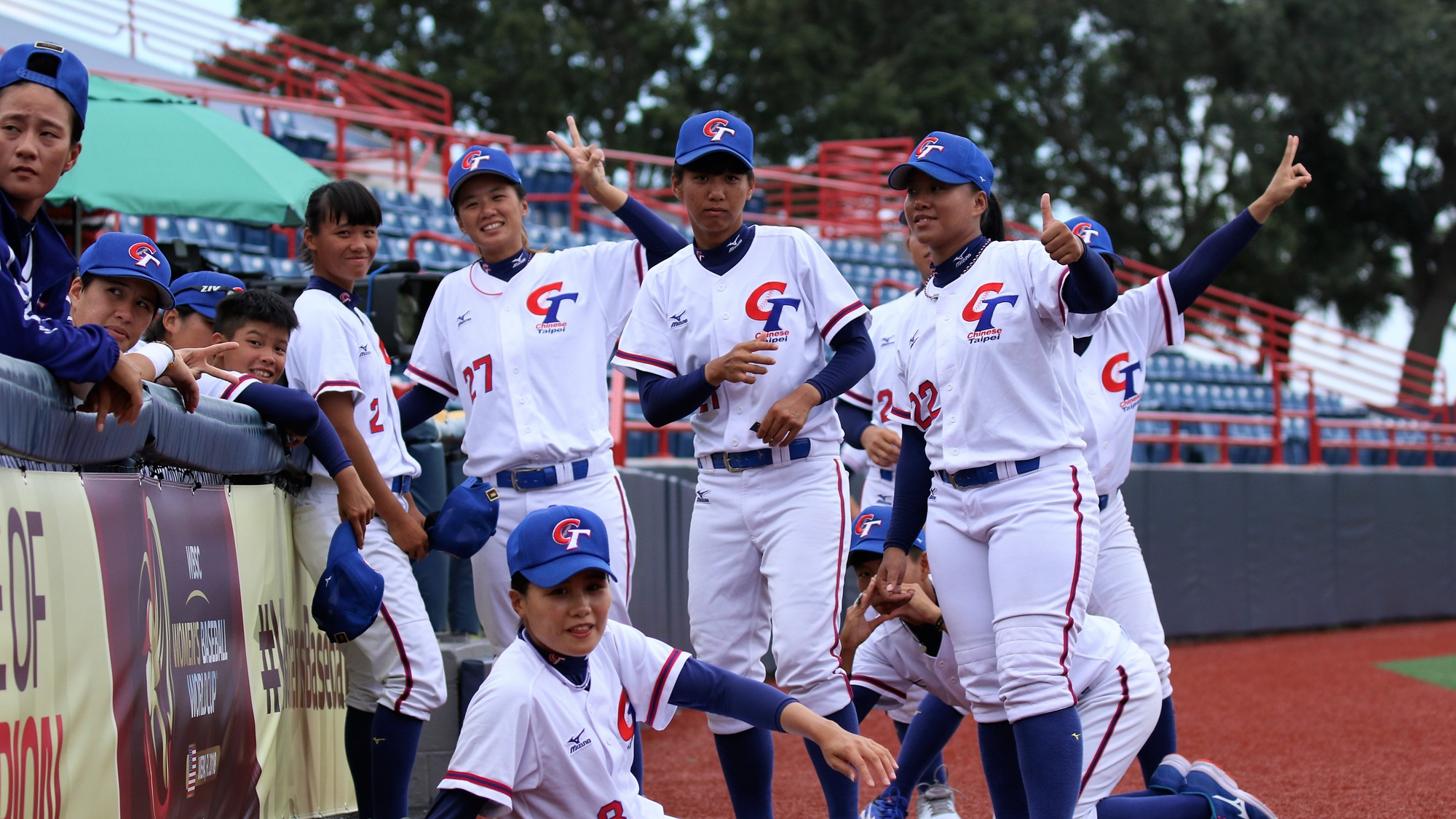 Chinese Taipei players in good mood before the game