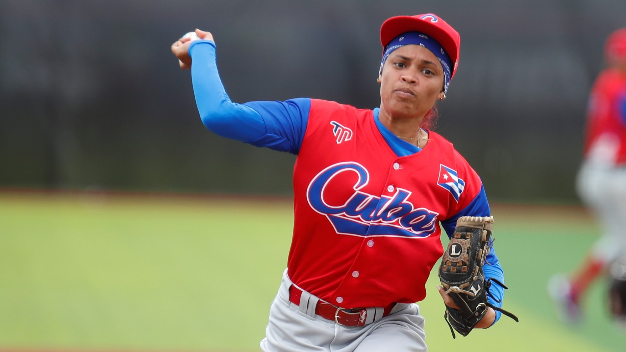 Dianelis Porro started the game against the Dominican Republic for Cuba