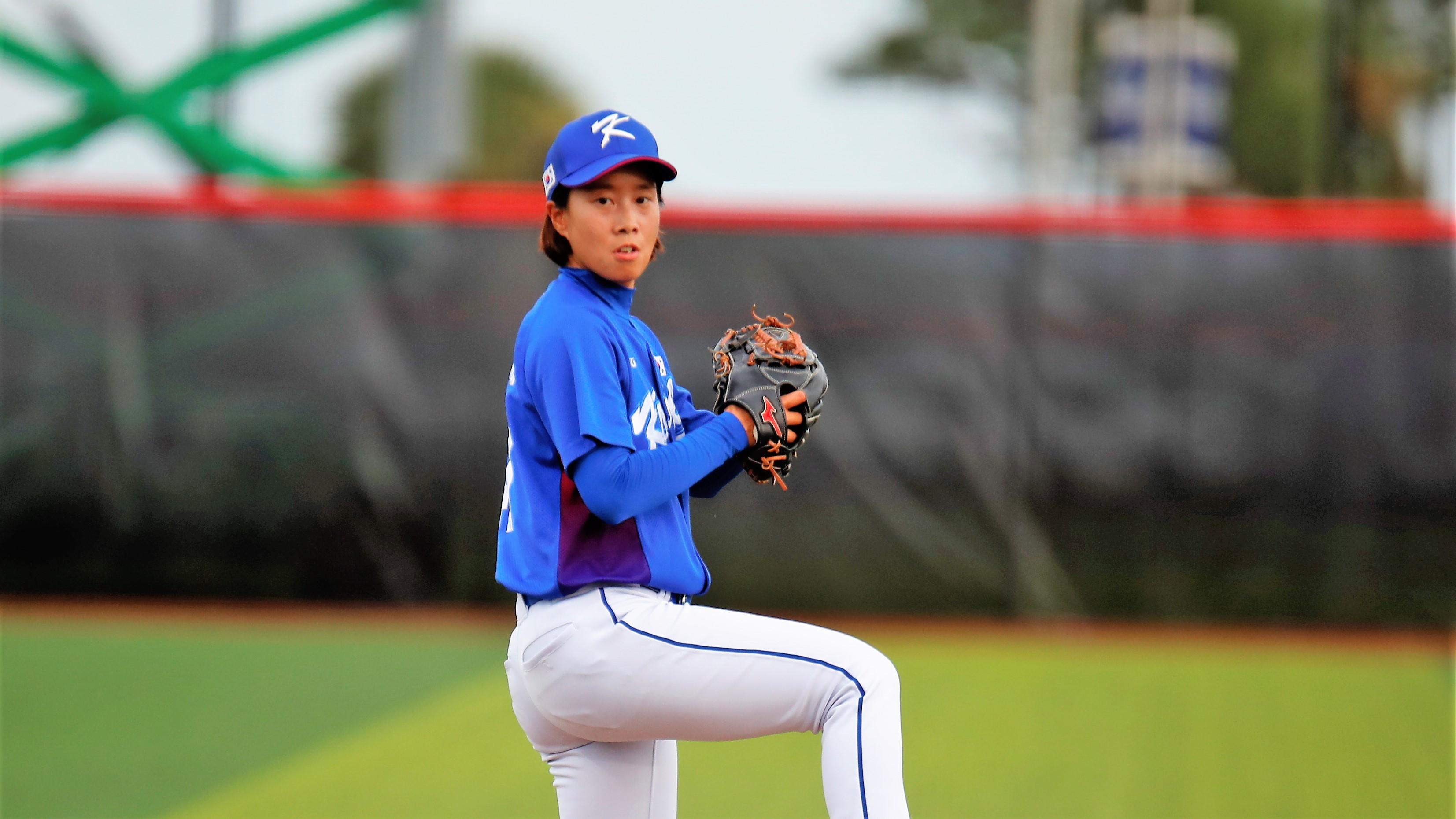 Korea's lefthander Kim Hieli