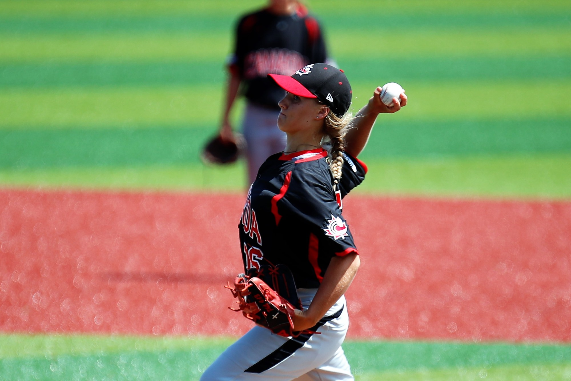 Allison Schroder, born April 2002, pitched 4.1 innings to lead Canada to the win