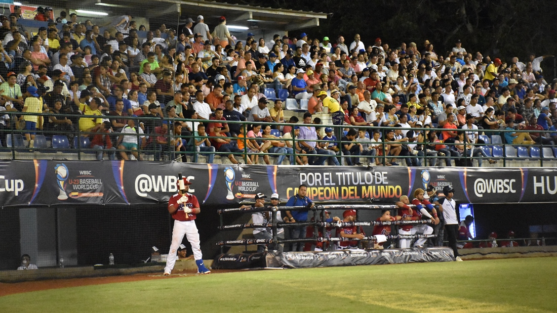 Bir crowd tonight at 18 de Junio stadium