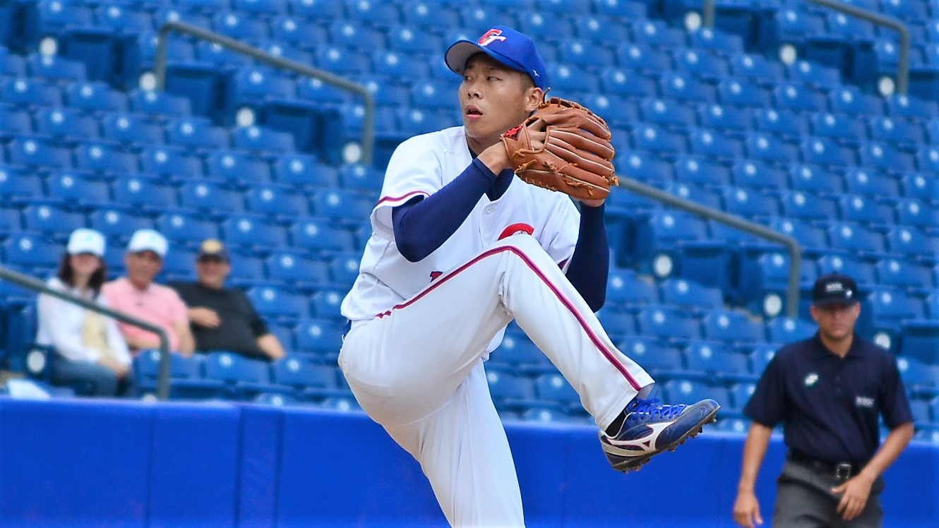 Wei Shuo Cheng pitched seven strong innings for Chinese Taipei