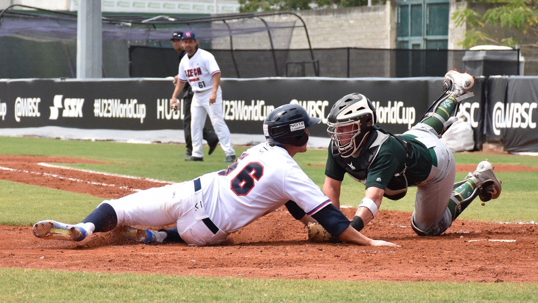 Close play at home plate